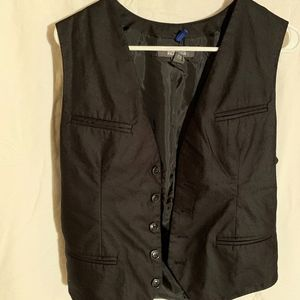 button down black vest